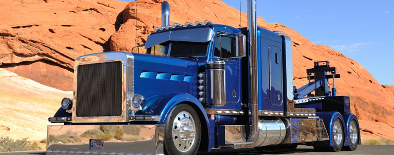 Custom Chrome Work Semi Truck